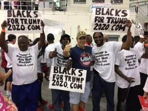 Support from Black , Hispanic and Asian voters swung election for Trump