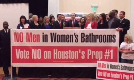 Houston says No to Men in Women's Bathrooms