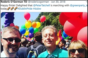 Tensions high over Child Minister Roderic O'Gorman's welcome for Peter Tatchell