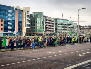 Cork City Hall - Free Speech Supporters opposed by Abortion Campaigners