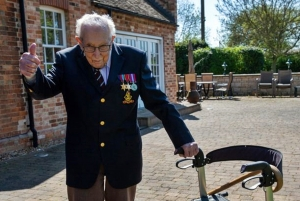 Captain Tom Moore at 99 raises millions for Health Service , puts celebrities to shame