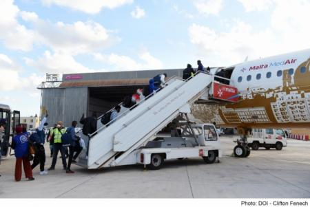 Malta sends plane load of migrants to Ireland under EU migrant relocation programme
