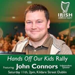 "Actor John Connors to address  ""Hands off our kids"" Rally in Dublin"