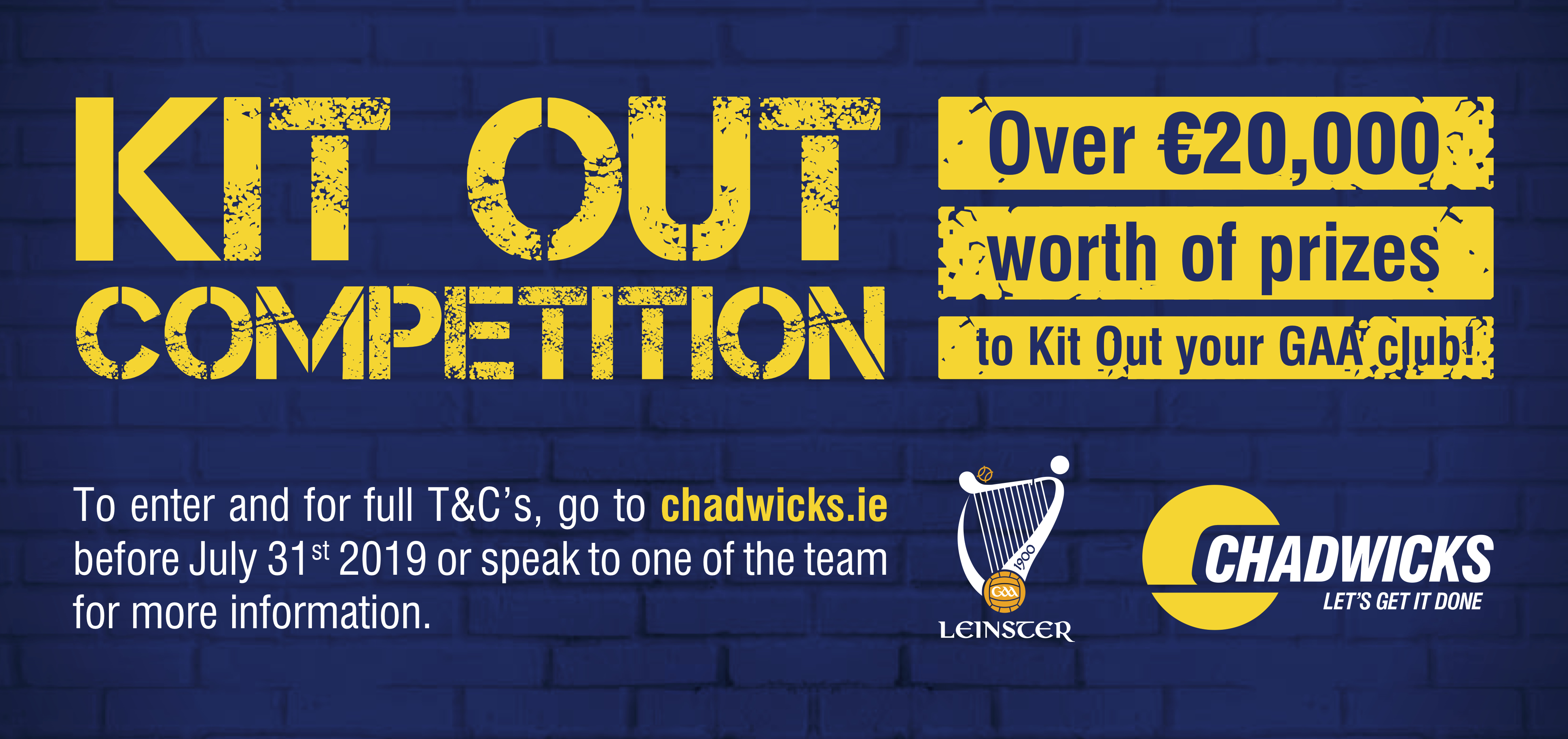 Chadwicks Kit Out Competition