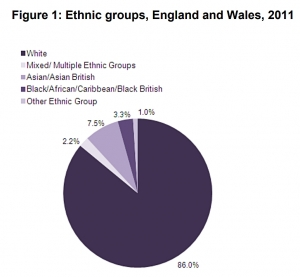 UK Census 2011 - 7% decrease in white British