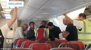 Plane Passengers prevent rapist deportation
