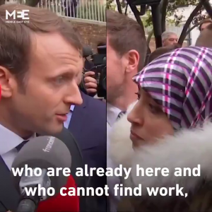 French President Emmanuel Macron tells fake Asylum Seeker to go home
