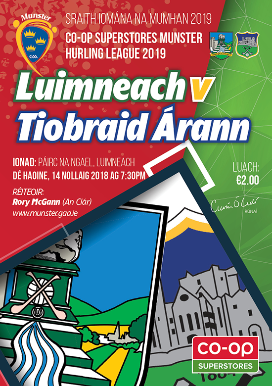 Co-Op Superstores Munster Hurling League – Limerick v Tipp