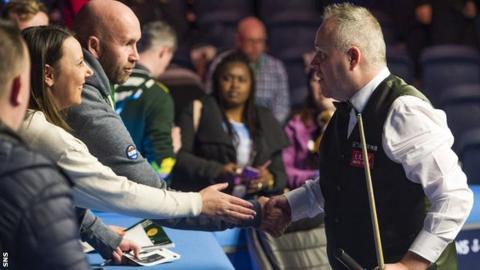 Scottish Open: John Higgins knocked out by Alfie Burden