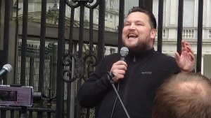 Actor John Connors Speaks at Hands off our Kids Rally in Dublin