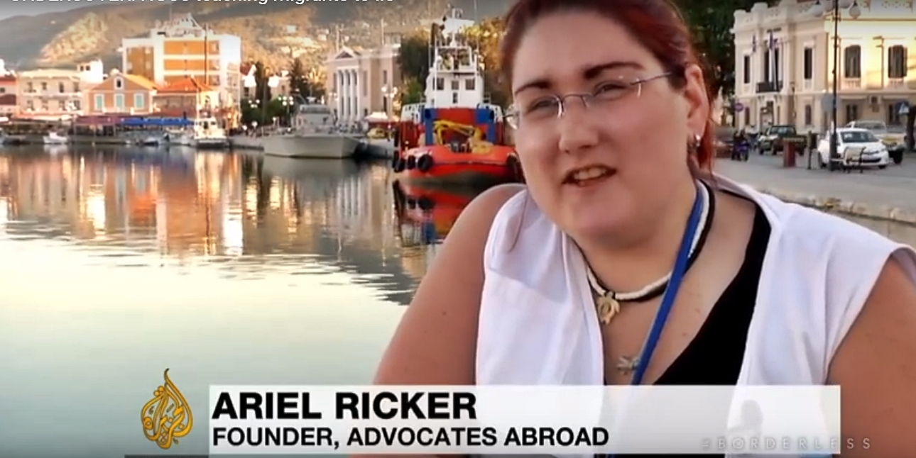 Ariel Ricker CEO Advocates Abroad teaches migrants to 'lie' and 'act' to enter europe