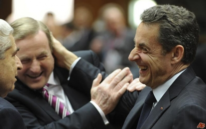 kenny gets a tickle from sarkozy