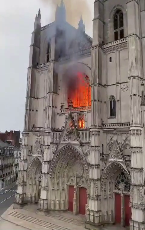 Nantes Cathedral on Fire