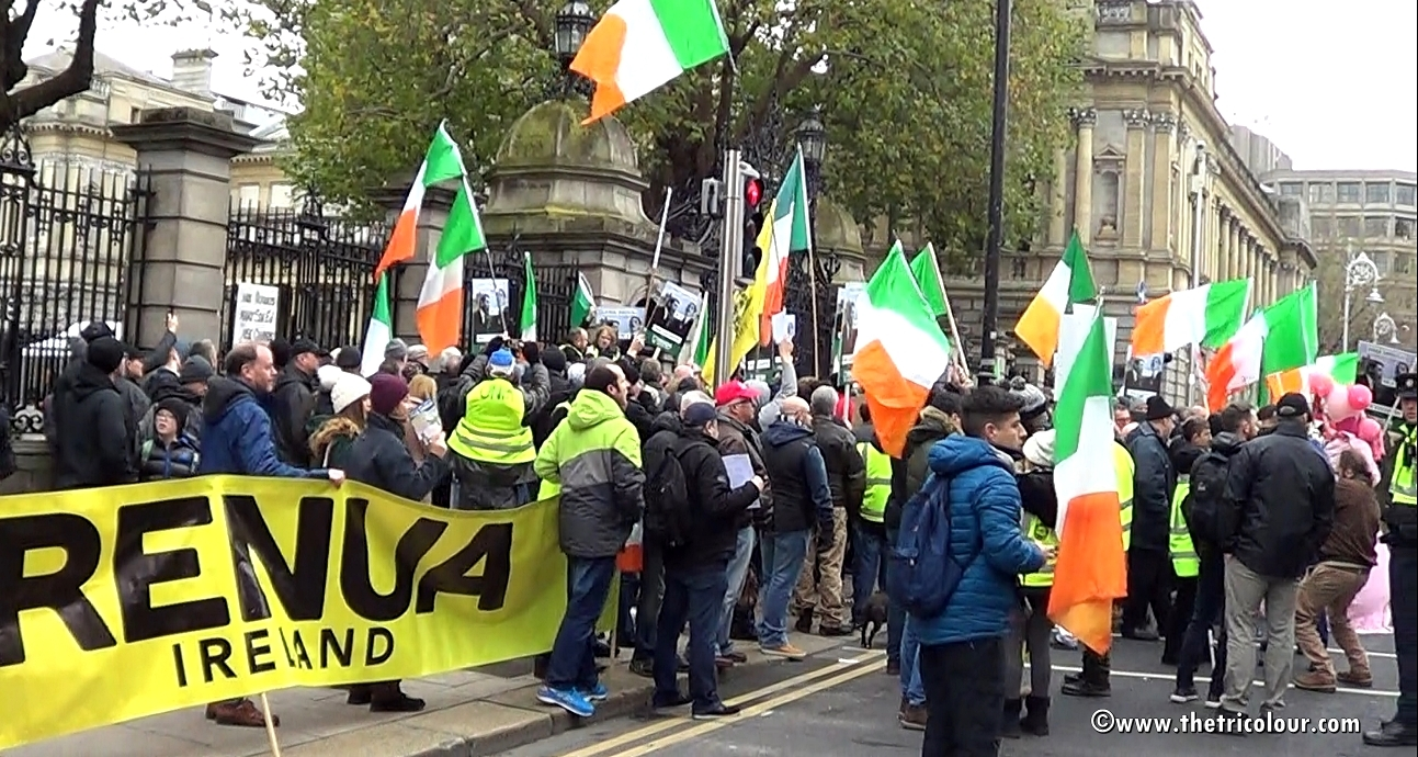 Antifa Versus Irish Free Speech Rally in Dublin