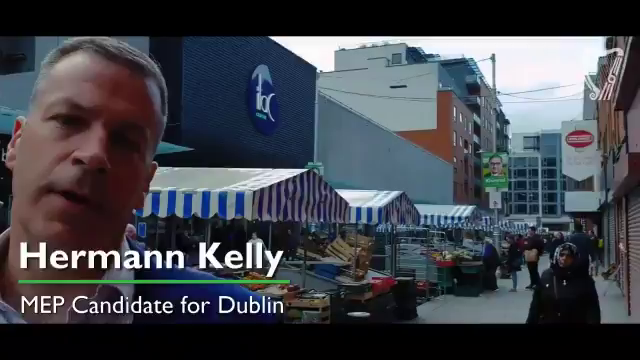 Hermann Kelly visits Moore Street