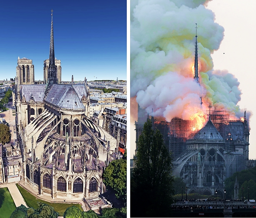Paris : Notre-Dame Cathedral goes up in Flames