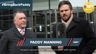 Watch : Paddy Manning at Twitter HQ to protest against ban