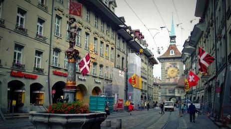 switzerland clock tower in Berne