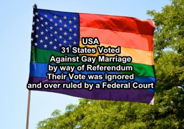USA : 31 States voted against gay marriage , 3 voted in favour , 1 in 4 Americans  want to leave Union.