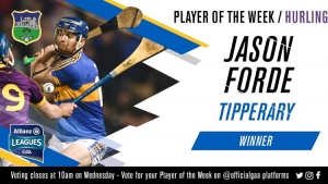 Jason Forde voted GAA.ie Hurler of the Week