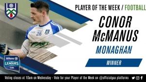 Conor McManus voted GAA.ie Footballer of the Week