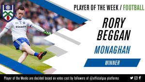 Rory Beggan voted GAA.ie Footballer of the Week