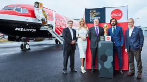 FIFA World Cup Trophy Tour by Coca-Cola takes off from London