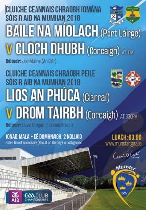 AIB Munster Club Junior Football Championship Final – Beaufort (Kerry) 2-13 Dromtarriffe (Cork) 2-12