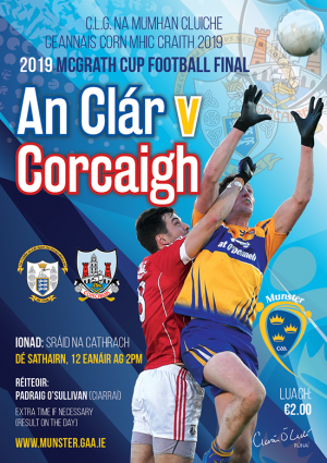 McGrath Cup Football Final – Clare 1-9 Cork 0-9