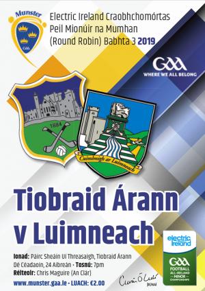 Munster MFC – Tipperary 0-10 Limerick 0-10