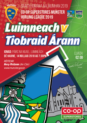 Munster Hurling League – Tipperary 4-14 Limerick 2-17
