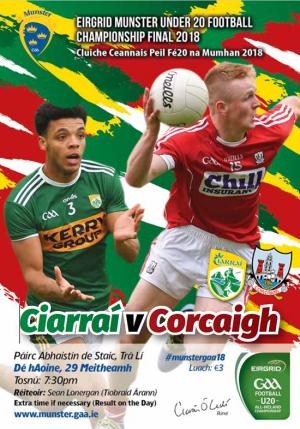 EirGrid GAA Football Under 20 Munster Championship Final – Kerry 3-11 Cork 0-14