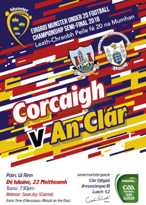 EirGrid GAA Football Under 20 Munster Championship Semi-Final – Cork 1-16 Clare 0-15