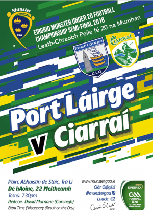 EirGrid GAA Football Under 20 Munster Championship Semi-Final – Kerry 3-22 Waterford 0-1