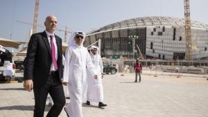 FIFA President praises Qatar 2022 infrastructure progress during whistle-stop tour